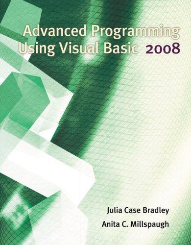 Advanced Programming Using Visual Basic 2008  4th 2010 edition cover