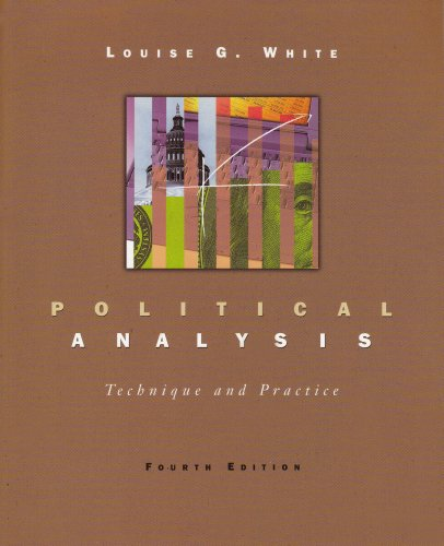 Political Analysis Technique and Practice 4th 1999 (Revised) edition cover
