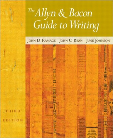 Allyn and Bacon Guide to Writing  3rd 2003 9780321106223 Front Cover
