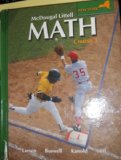 Math Course 3, Grades 6-8: Mcdougal Littell Middle School Math New York  2007 9780618912223 Front Cover