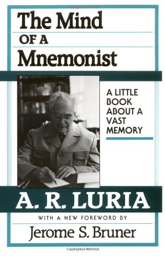 Mind of a Mnemonist A Little Book about a Vast Memory  1968 edition cover