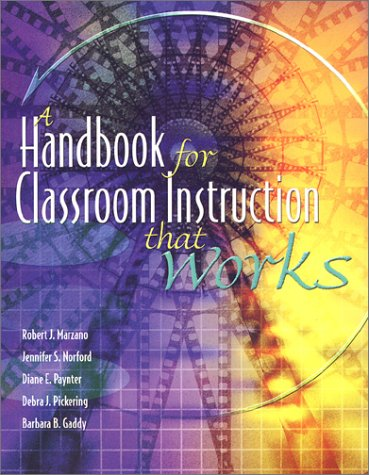 Handbook for Classroom Instruction That Works  2001 edition cover