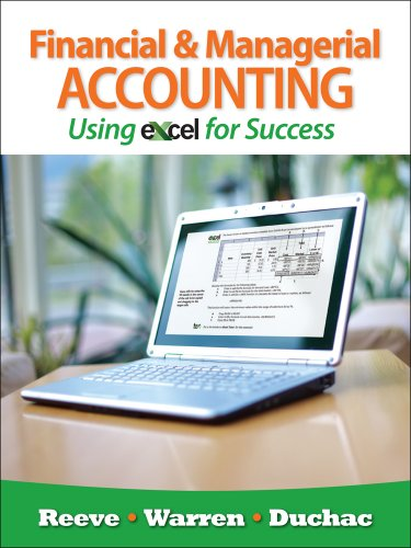 Financial and Managerial Accounting Using Excel� for Success   2012 edition cover