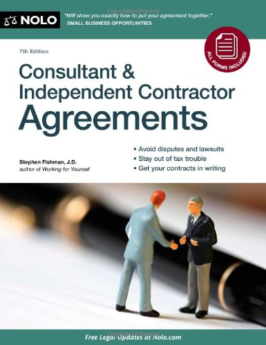 Consultant and Independent Contractor Agreements  7th 2011 (Revised) edition cover