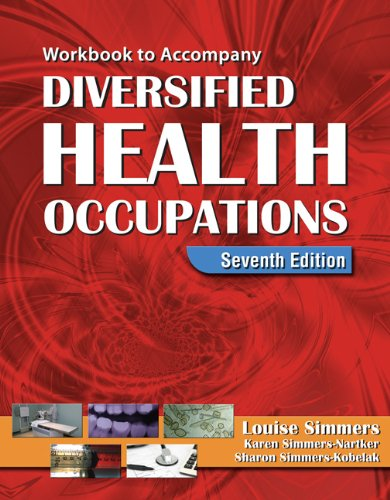 Diversified Health Occupations  7th 2009 (Workbook) edition cover