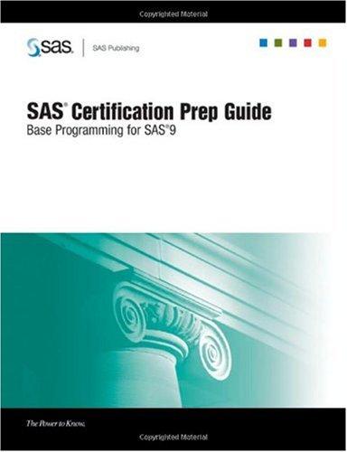 SAS Certification Prep Guide Base Programming for SAS 9  2006 edition cover