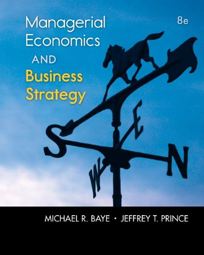Managerial Economics and Business Strategy  8th 2014 9780073523224 Front Cover