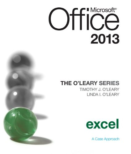 Microsoft Office Excel 2013   2014 edition cover