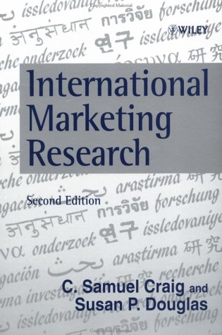 International Marketing Research Concepts and Methods 2nd 1999 9780471983224 Front Cover