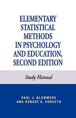 Elementary Statistical Methods in Psychology  2nd (Student Manual, Study Guide, etc.) edition cover