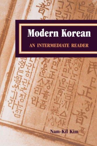 Modern Korean An Intermediate Reader  2000 edition cover