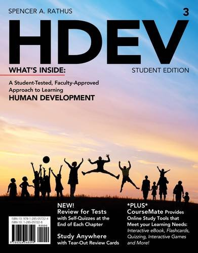 Hdev + Psychology Coursemate With Ebook Printed Access Card:   2013 9781285057224 Front Cover