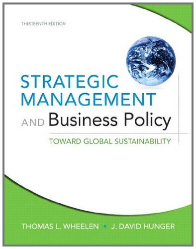 Strategic Management and Business Policy Toward Global Sustainability 13th 2012 (Revised) edition cover