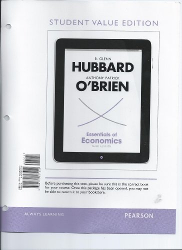 Essentials of Economics, Student Value Edition  3rd 2013 9780132827225 Front Cover