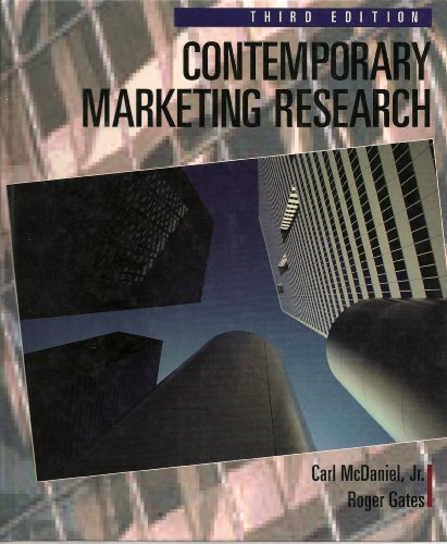 Contemporary Marketing Research 3rd 1996 9780314061225 Front Cover