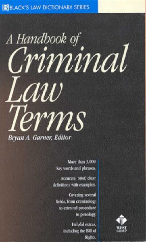 Black's Handbook of Criminal Law Terms   2000 edition cover
