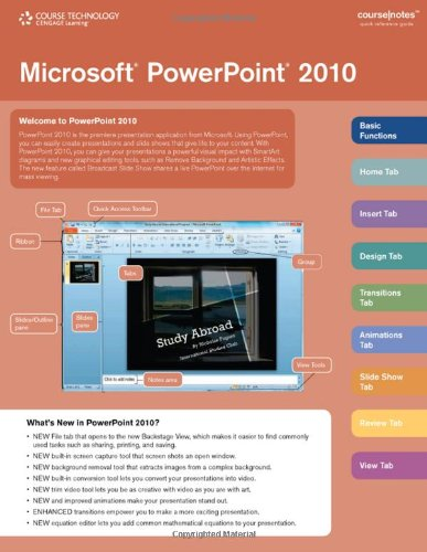 Microsoft PowerPoint 2010 CourseNotes   2011 9780538744225 Front Cover