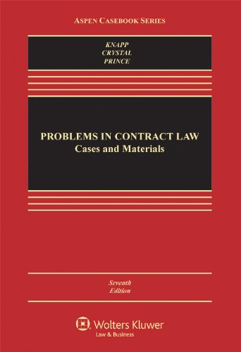 Problems in Contract Law Cases and Materials 7th 2012 (Revised) 9780735598225 Front Cover