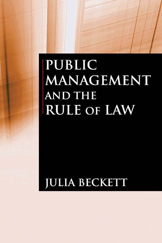 Public Management and the Rule of Law   2010 9780765623225 Front Cover