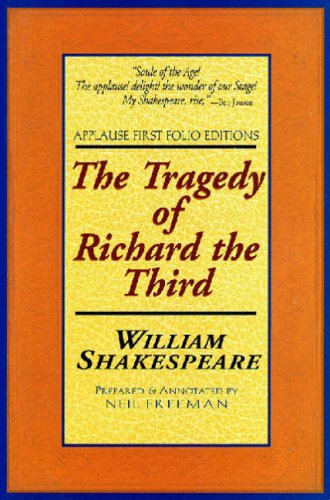 Tragedy of Richard the Third pplause First Folio  2001 edition cover