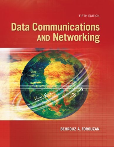 Data Communications and Networking  5th 2013 edition cover