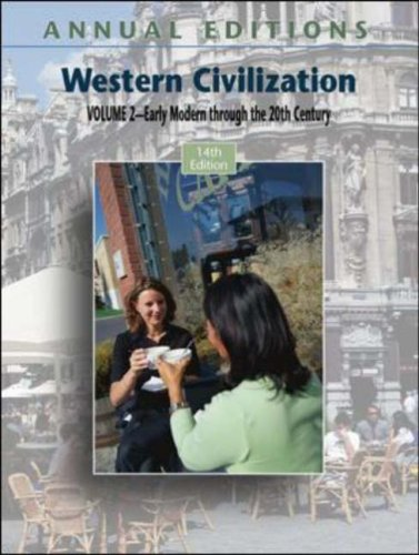 Western Civilization Early Modern Through the 20th Century 14th 2007 (Revised) edition cover
