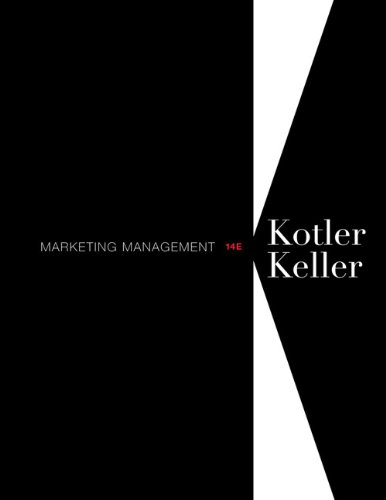 Marketing Management  14th 2012 edition cover
