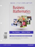 Business Mathematics Books a la Carte Edition Plus NEW MyMathLab with Pearson EText -- Access Card Package  13th 2015 edition cover