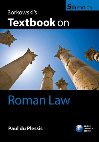 Borkowski's Textbook on Roman Law  5th 2015 9780198736226 Front Cover