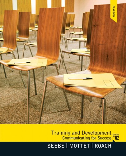 Training and Development Communicating for Success 2nd 2013 edition cover