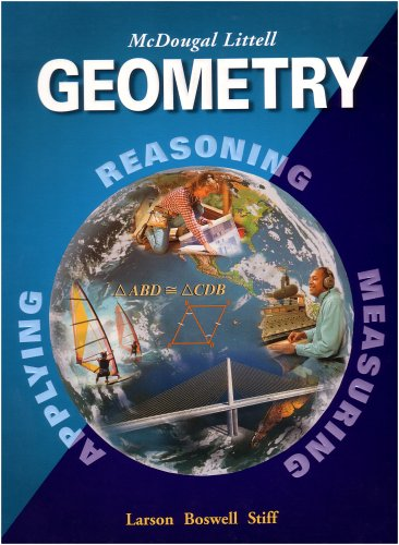 Geometry Applying, Reasoning, Measuring Student Manual, Study Guide, etc.  9780618250226 Front Cover