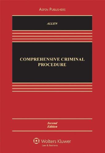 Comprehensive Criminal Procedure  2nd 2005 (Revised) 9780735546226 Front Cover