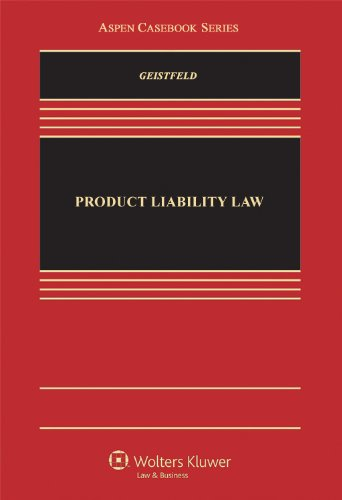 Products Liability Law   2012 edition cover