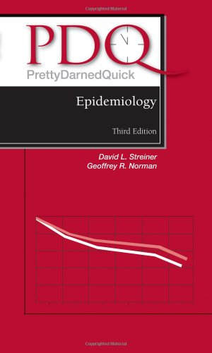 Pdq Epidemiology:  2009 edition cover