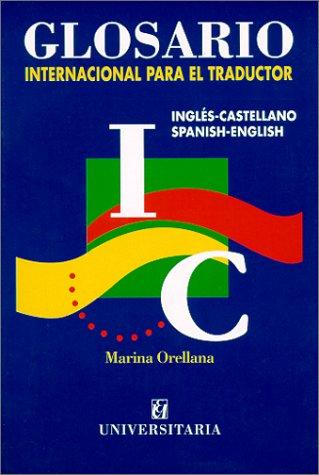 Glosario Internacional Para El Traductor:  1st 2001 edition cover