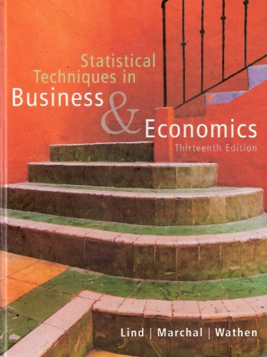 Statistical Techniques in Business and Economics  13th 2008 edition cover