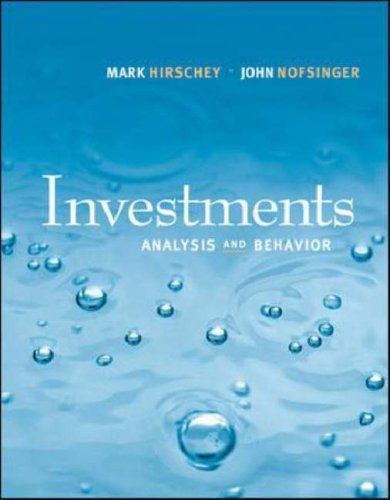 Investments Analysis and Behavior with S&P bind-in Card  2008 9780073311227 Front Cover