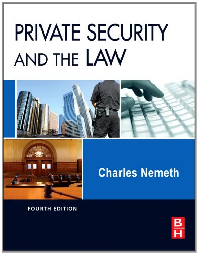 Private Security and the Law  4th 2011 edition cover