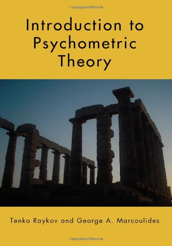 Introduction to Psychometric Theory   2011 edition cover