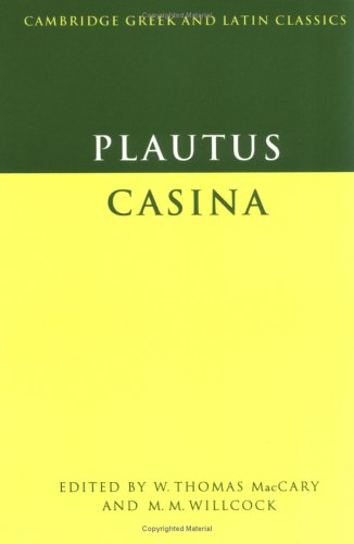 Plautus Casina  1976 9780521290227 Front Cover