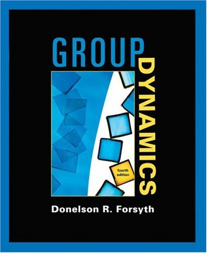 Group Dynamics  4th 2006 edition cover