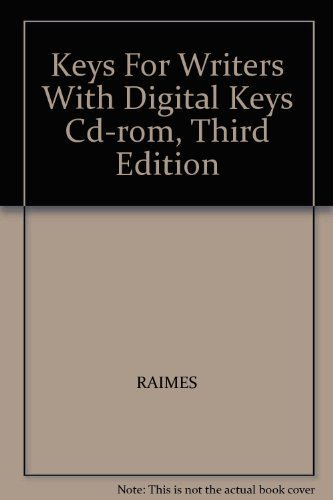 Keys for Writers with Digital Keys 3rd 2002 9780618167227 Front Cover