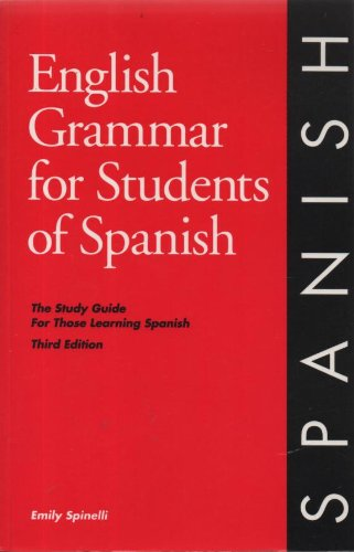 English Grammar for Students of Spanish 3rd 1997 edition cover