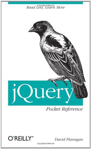 JQuery Pocket Reference   2010 edition cover