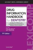 Drug Information Handbook for Dentistry:   2013 edition cover