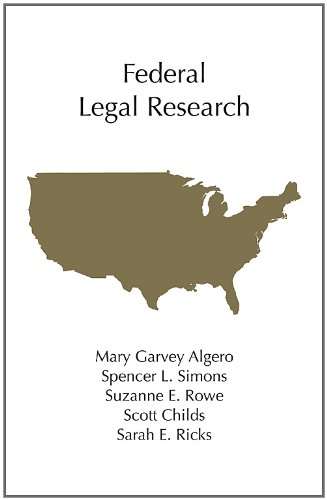Federal Legal Research  2011 edition cover