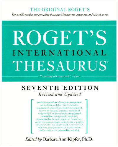 Roget's International Thesaurus  7th 2010 9780061715228 Front Cover