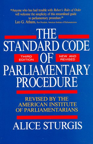 Standard Code of Parliamentary Procedure  3rd 1988 (Revised) 9780070625228 Front Cover