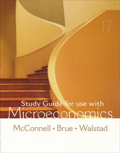 Study Guide to accompany Microeconomics  17th 2008 9780073273228 Front Cover