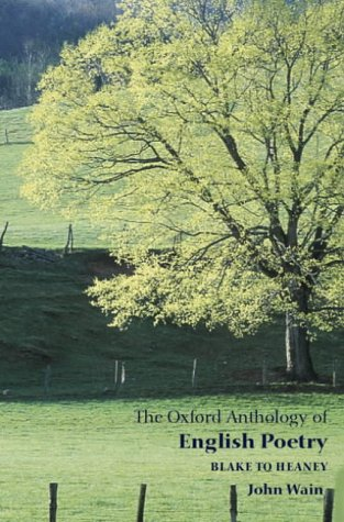 Oxford Anthology of English Poetry Blake to Heaney  2003 edition cover